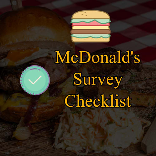 mcdvoice survey checklist
